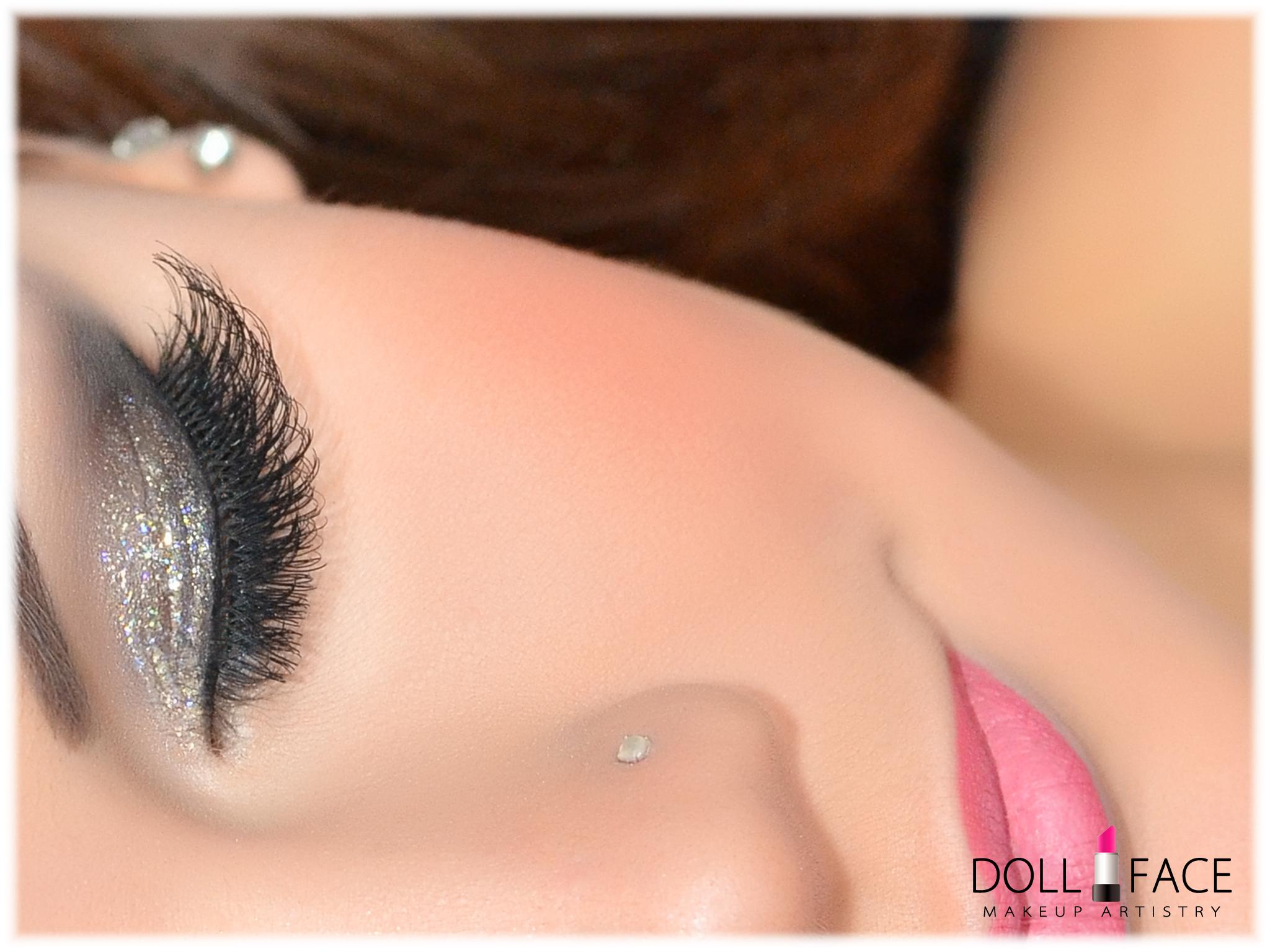 Sparkle Pink Prom Makeup NJ