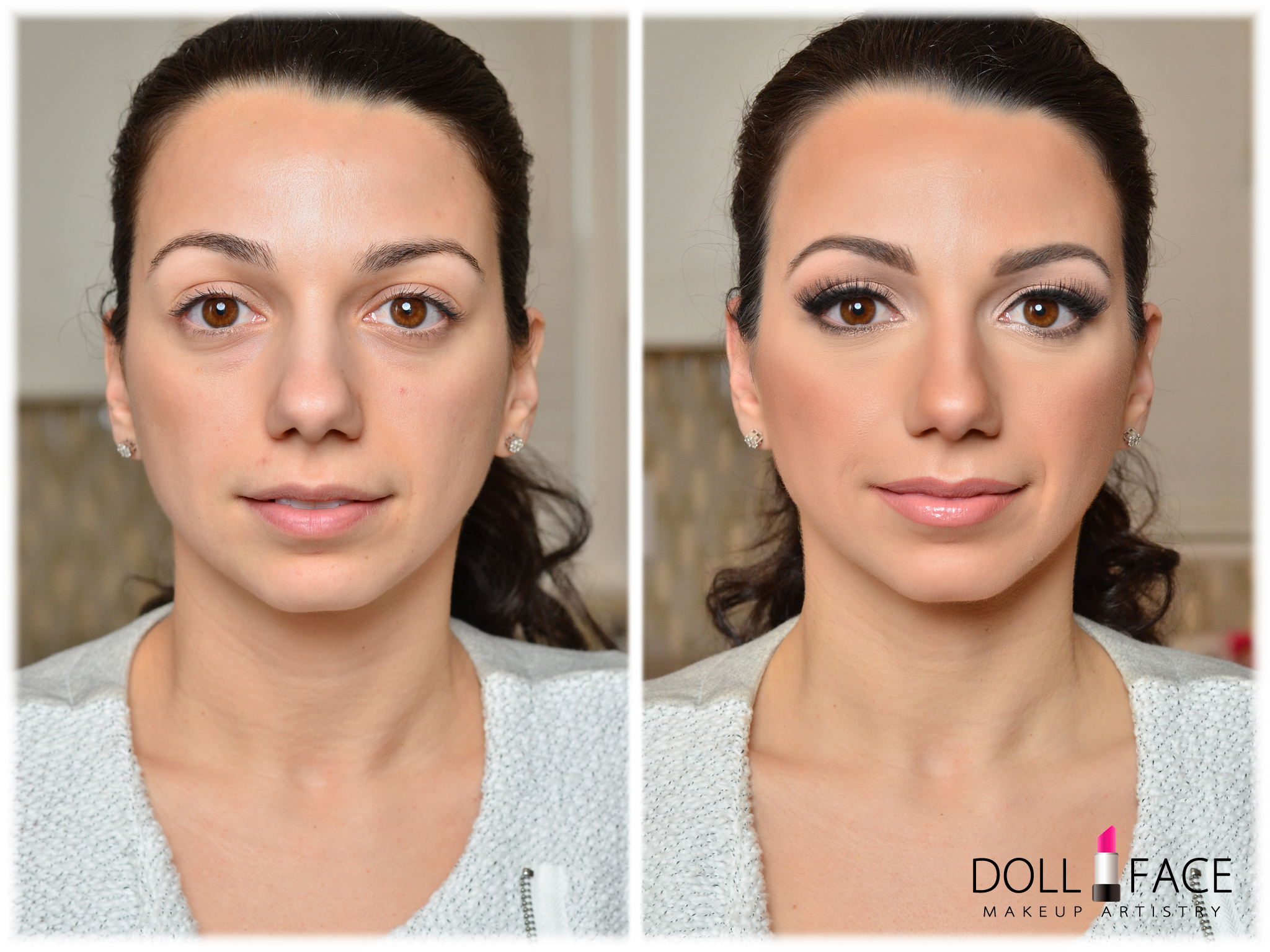 Before and After Makeup Makeover