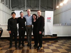 Post-performance with composer George Holloway