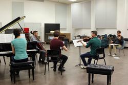 Velox Quartett with coach James Ehnes