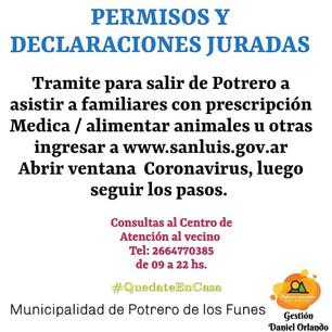 PERMISOS Y DECLARACIONES JURADAS