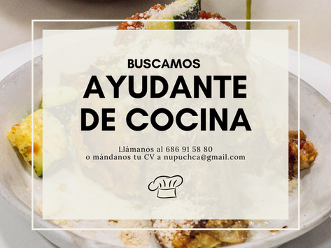 We're hiring! ¡Buscamos personal!