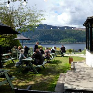 Craigdarroch Inn Loch Ness beer garden