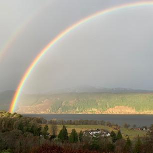 Rainbows over Loch Ness
