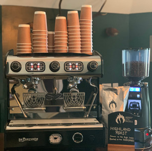 Speciality coffees at the Craigdarroch Inn