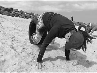 Workout på stranden