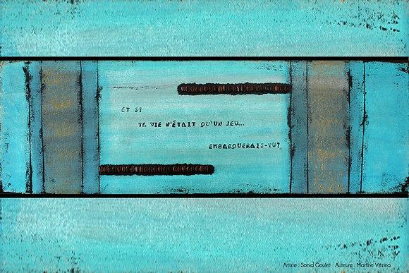 Carte de souhaits ''Marelle''
