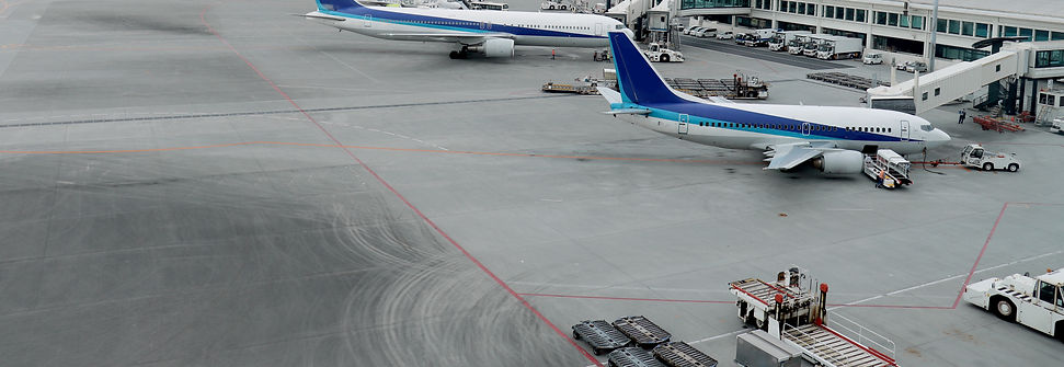 Planes loading cargo