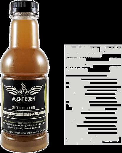 Agent Eden Apple Pie Bottle and Nutritional Content