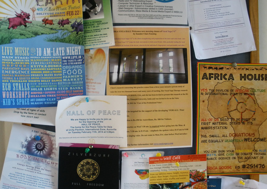 Auroville Notice Board