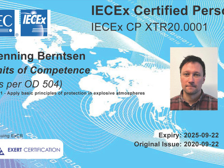 First Exert Certificate issued