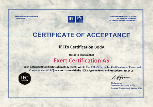 Letter of Acceptance IECEx CoPC Sept 202