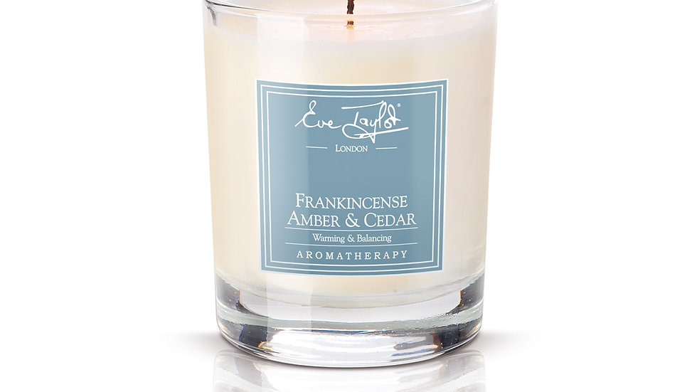Frankincense, Amber and Cedar Massage Candle