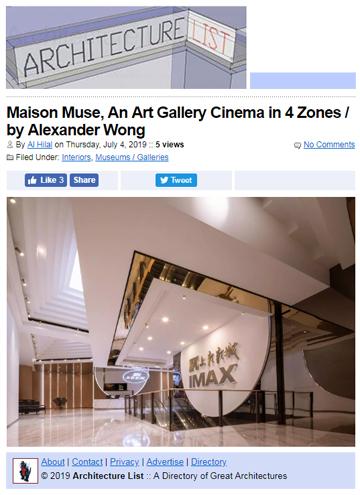 Maison Muse Architecture List