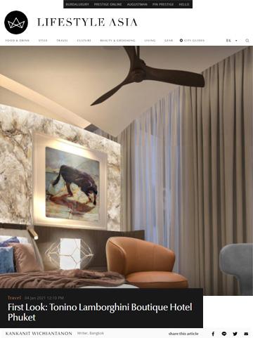 Lifestyle Asia, Tonino Lamborghini Hotel