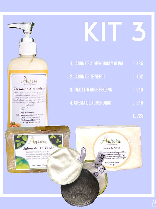Kit 3: Jabónes, Toallas y Crema