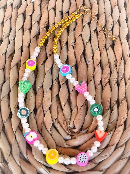 Cadena perlas con fruits
