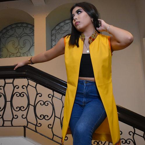 Blazer amarillo para mujer