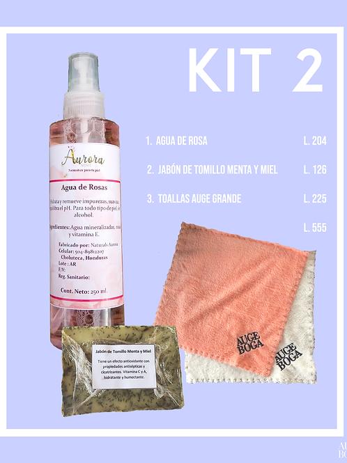 Kit 2: Agua de Rosa, Jabón y Toallas