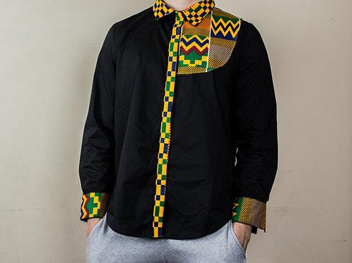 Camisa manga laga negra