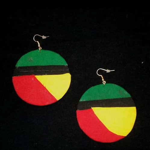 Aretes redondos africanos