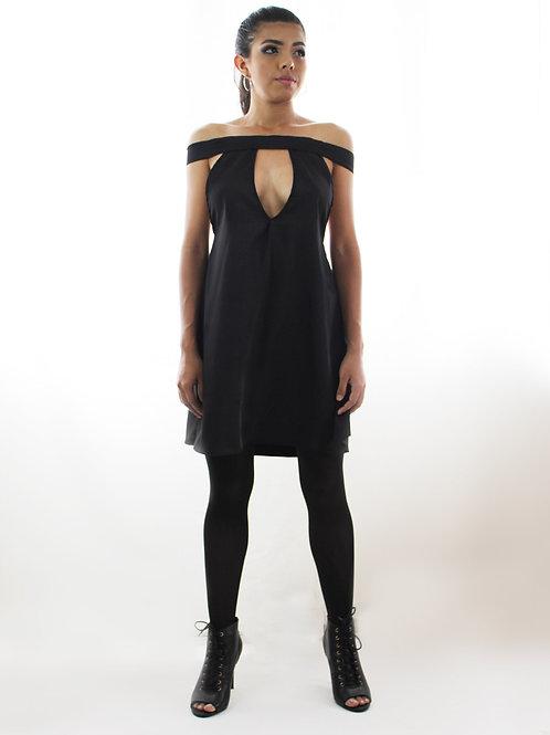 Vestido negro offshoulder