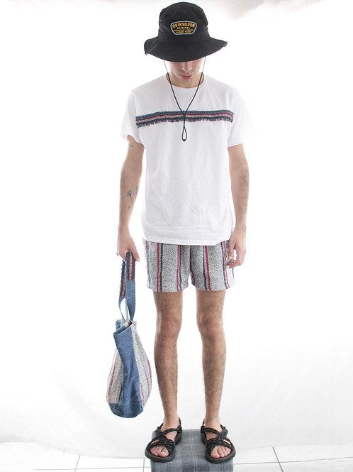Shorts Lounge wear hecho de jerga rustica de color y denim.