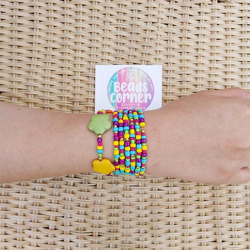 Pulseras rainbow - Hechas a mano con mostacillas