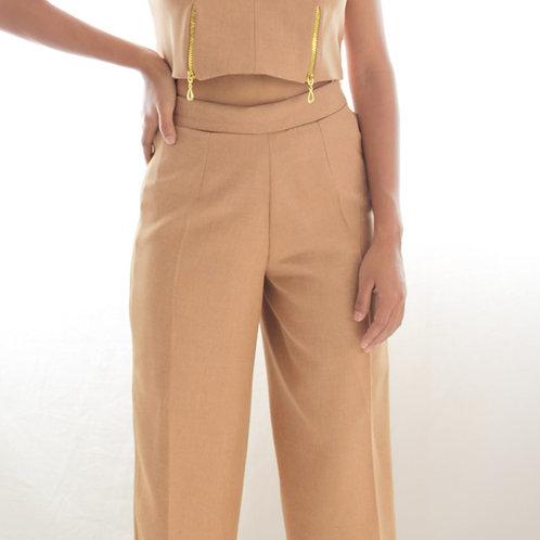 Pantalon Culottes Color Camel