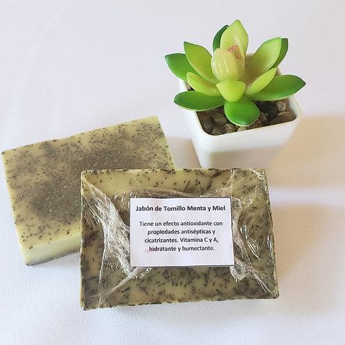 Jabón de Tomillo - Menta y Miel