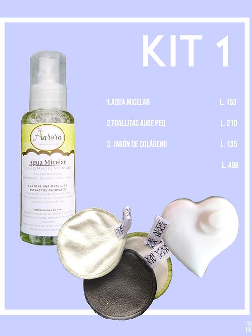 Kit 1: Agua micelar, Toallitas y Jabon