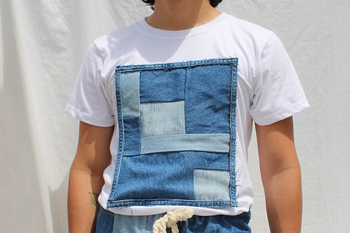 Patchwork Denim Tshirt