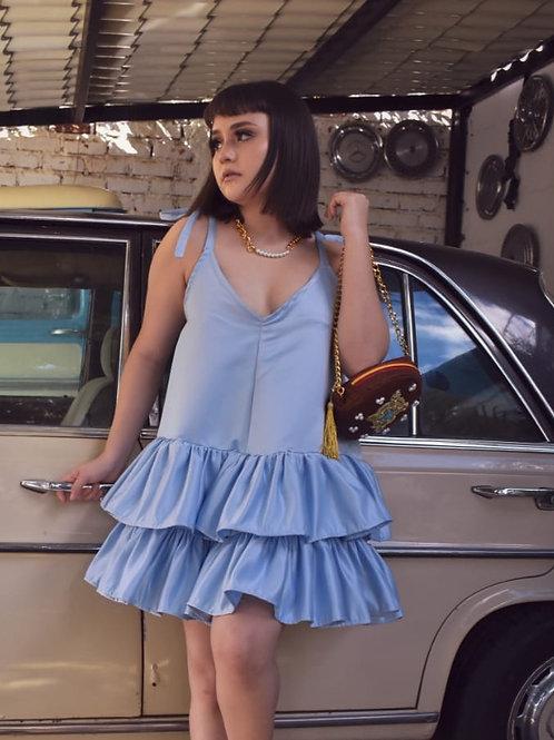 Vestido azul celeste