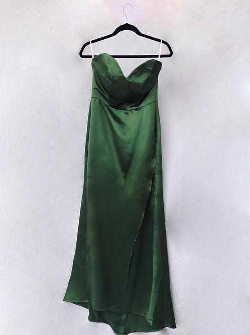 Vestido Largo verde esmeralda
