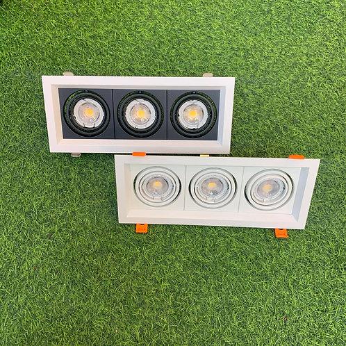Spotlight Triple SQ125Cx300 + Changeable GU10 6W Bulb