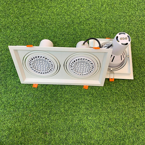 Spotlight Twin SQ185x335 Par 30 Changeable Bulb E27 Holder