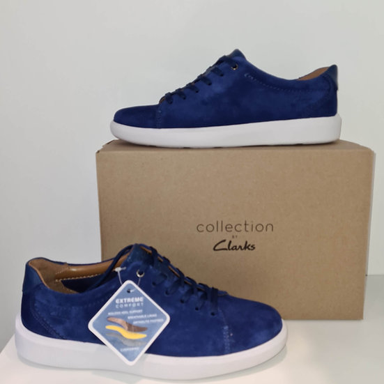 CLARKS BASKET CAMBRO LOW BLUE SUEDE