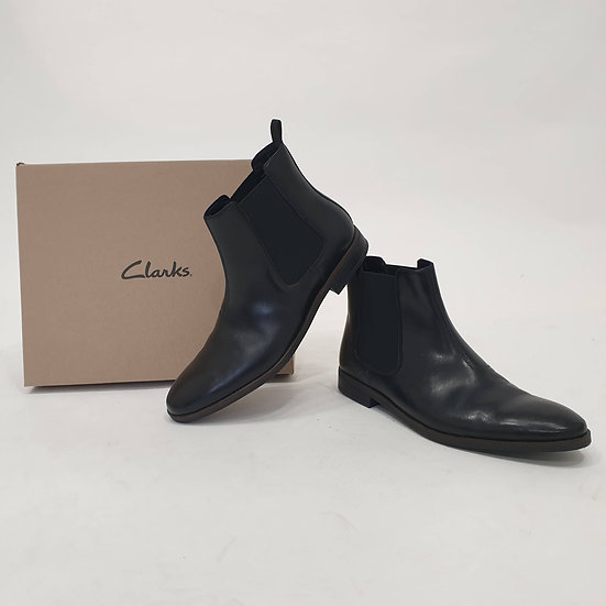 CLARKS BOOTS BLACK STANFORD TOP