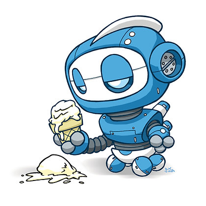 Ice Cream Robot Print