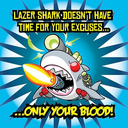 Lazer Shark Print