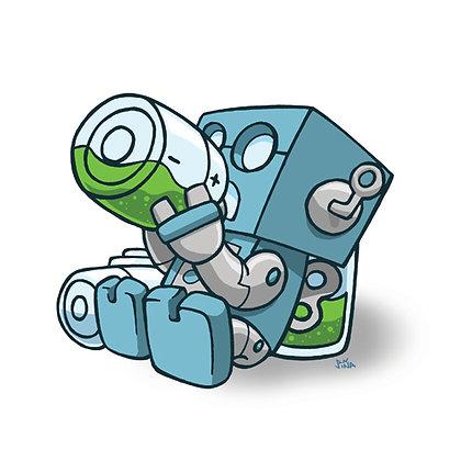Drunk Robot Print
