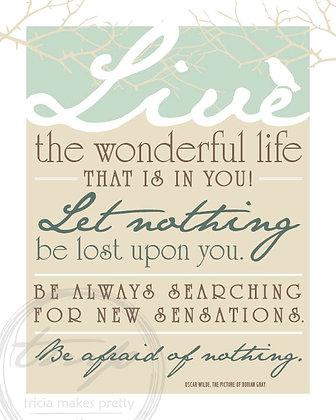 Live the Wonderful Life Quote