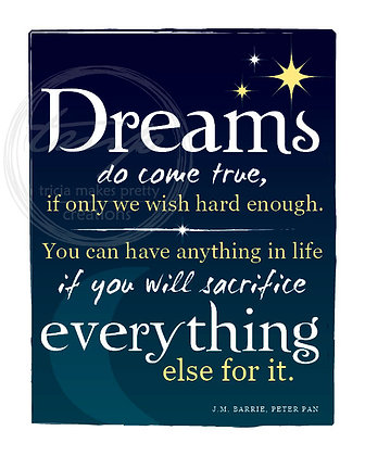 Peter Pan Dreams Quote