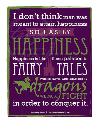 Fairy Tales Quote Print