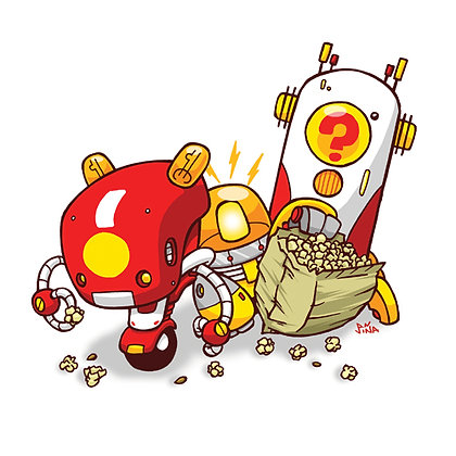 Popcorn Robot Print