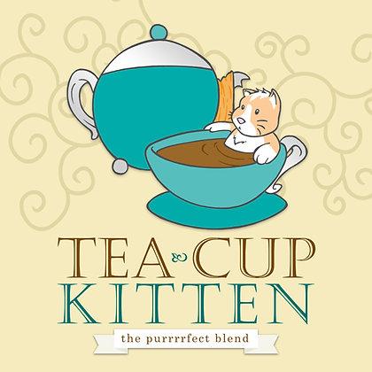 Tea Cut Kitten Print