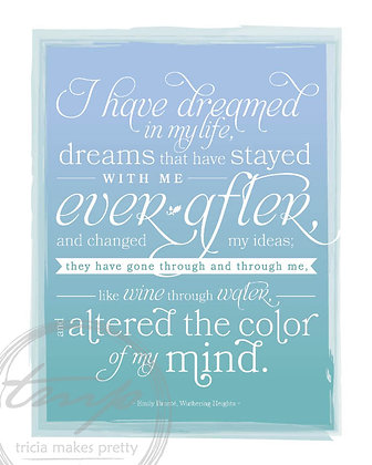 Wuthering Heights Dream Quote