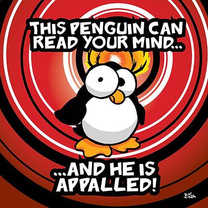 Telepathic Penguin Print