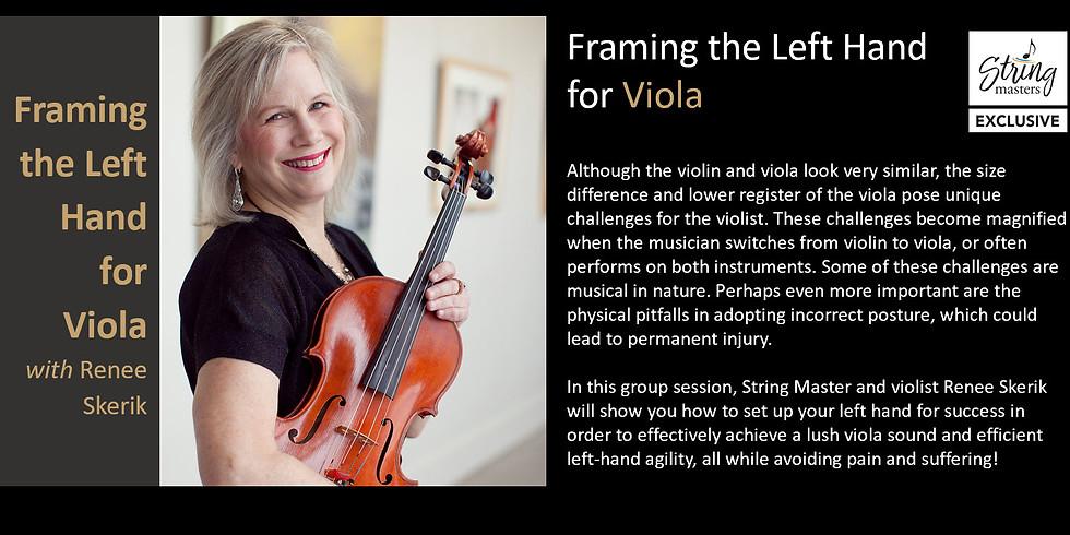 Framing the Left Hand for Viola