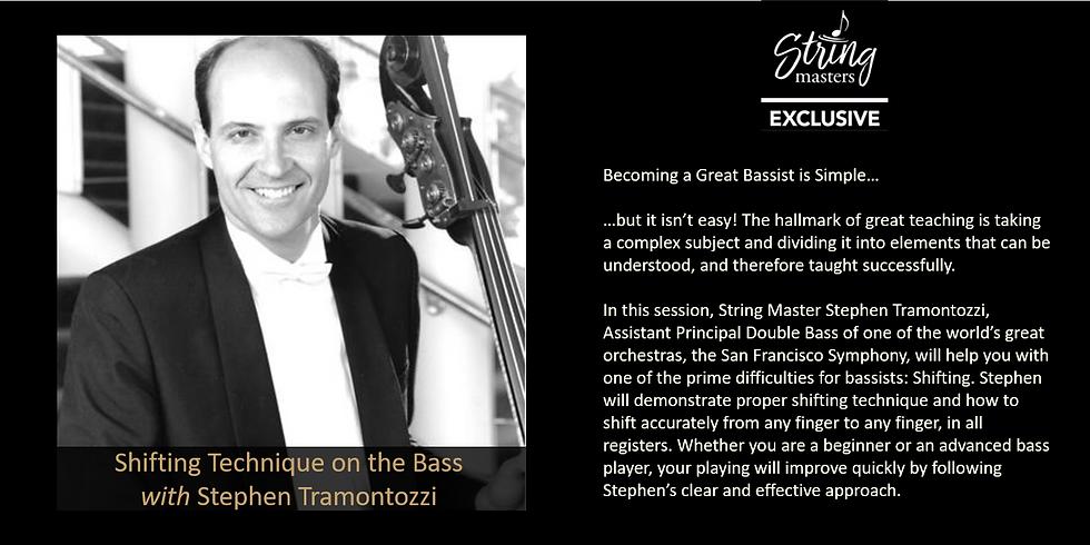 Shifting Techniques on the Bass with Stephen Tramontozzi